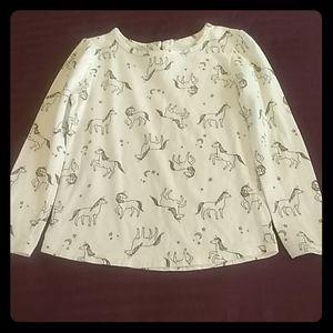 Carter's Kid Unicorn Shirt Size 6/6x